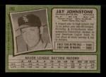 1971 Topps #292  Jay Johnstone  Back Thumbnail