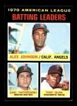 1971 Topps #61   -  Carl Yastrzemski / Alex Johnson / Tony Oliva AL Batting Leaders   Front Thumbnail