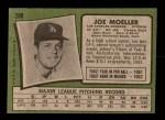 1971 Topps #288  Joe Moeller  Back Thumbnail