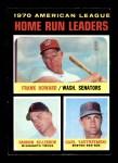1971 Topps #65   -  Frank Howard / Harmon Killebrew / Carl Yastrzemski AL HR Leaders   Front Thumbnail