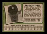 1971 Topps #86  Mike Kilkenny  Back Thumbnail