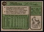 1974 Topps #176  John Lowenstein  Back Thumbnail