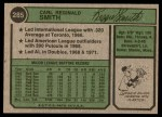 1974 Topps #285  Reggie Smith  Back Thumbnail