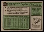 1974 Topps #373  John Curtis  Back Thumbnail