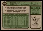 1974 Topps #268  Tom Grieve  Back Thumbnail