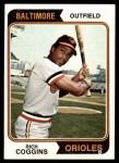 1974 Topps #353  Rich Coggins  Front Thumbnail