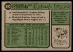 1974 Topps #353  Rich Coggins  Back Thumbnail