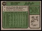 1974 Topps #187  Don Baylor  Back Thumbnail