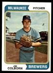 1974 Topps #75  Jim Colborn  Front Thumbnail