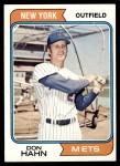 1974 Topps #291  Don Hahn  Front Thumbnail