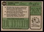 1974 Topps #256  Tom Griffin  Back Thumbnail