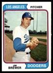 1974 Topps #189  Jim Brewer  Front Thumbnail