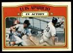 1972 Topps #314   -  Luis Aparicio In Action Front Thumbnail