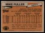1981 Topps #67  Mike Fuller  Back Thumbnail