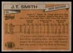 1981 Topps #86  J.T. Smith  Back Thumbnail