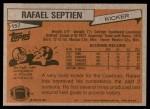 1981 Topps #157  Rafael Septien  Back Thumbnail