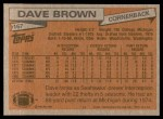 1981 Topps #167  Dave Brown  Back Thumbnail