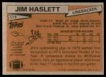 1981 Topps #173  Jim Haslett  Back Thumbnail