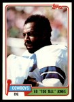 1981 Topps #185  Ed Too Tall Jones  Front Thumbnail