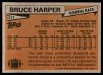 1981 Topps #211  Bruce Harper  Back Thumbnail