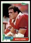 1981 Topps #215  Mike Kenn  Front Thumbnail
