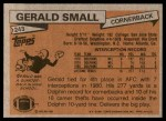1981 Topps #243  Gerald Small  Back Thumbnail