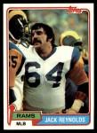1981 Topps #369  Jack Reynolds  Front Thumbnail