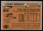 1981 Topps #385  Louis Wright  Back Thumbnail