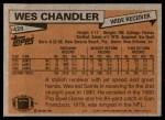 1981 Topps #428  Wes Chandler  Back Thumbnail