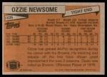 1981 Topps #435  Ozzie Newsome  Back Thumbnail