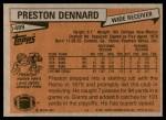1981 Topps #489  Preston Dennard  Back Thumbnail