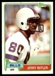 1981 Topps #521  Jerry Butler  Front Thumbnail