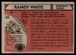 1980 Topps #70  Randy White  Back Thumbnail