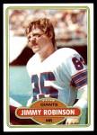 1980 Topps #74  Jimmy Robinson  Front Thumbnail