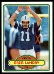 1980 Topps #265  Greg Landry  Front Thumbnail