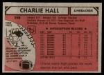 1980 Topps #298  Charlie Hall  Back Thumbnail