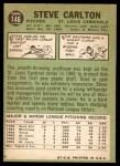 1967 Topps #146  Steve Carlton  Back Thumbnail