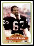 1980 Topps #449  Gene Upshaw  Front Thumbnail