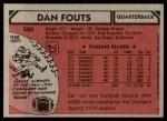 1980 Topps #520  Dan Fouts  Back Thumbnail