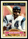 1980 Topps #520  Dan Fouts  Front Thumbnail