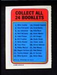 1970 Topps Booklets #17  Bill Singer      Back Thumbnail