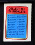 1970 Topps Booklets #2  Rico Petrocelli  Back Thumbnail