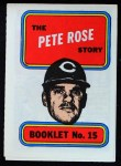 1970 Topps Booklets #15  Pete Rose  Front Thumbnail