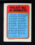 1970 Topps Booklets #6  Bill Freehan  Back Thumbnail