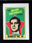 1971 Topps O-Pee-Chee Booklets #20  Orland Kurtenbach  Front Thumbnail