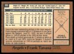1978 O-Pee-Chee #65  Frank Tanana  Back Thumbnail