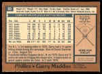 1978 O-Pee-Chee #93  Garry Maddox  Back Thumbnail