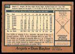 1978 O-Pee-Chee #173  Don Baylor  Back Thumbnail