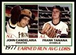 1978 O-Pee-Chee #7   -  John Candelaria / Frank Tanana ERA Leaders  Front Thumbnail