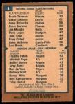 1978 O-Pee-Chee #4   -  Frank Taveras / Freddie Patek SB Leaders  Back Thumbnail